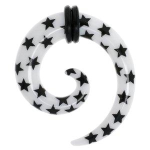 Plug Acrylglas PVC Spirale Stern