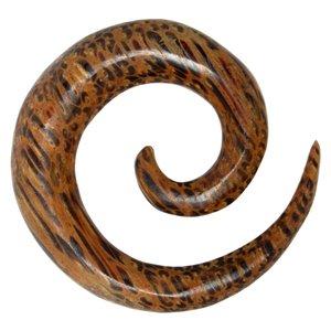 Plug Kokosholz Spirale