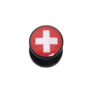 Plug Acrylglas Epoxiharz Kreuz Schweiz Schweizerkreuz