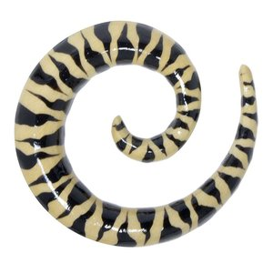 Plug Legno coccodrillo Spirale Pelame Manto Animal_Print