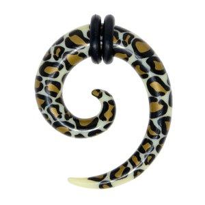 Plug Verre en acrylique PVC Spirale Pelage Animal_Print Fourrure