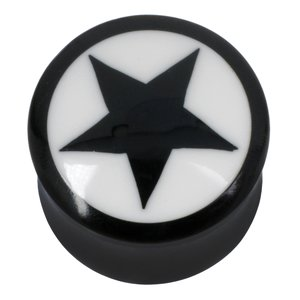 Plug Buffalo horn synthetic resin Star