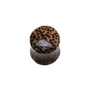 Plug Madera de coco Piel Estampado_animal Estampado_piel