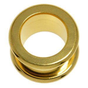 Plug Surgical Steel 316L PVD-coating (gold color)