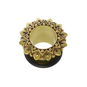 Plug Brass PVC Flower