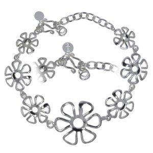 Silber-Armkettchen Silber 925 Blume