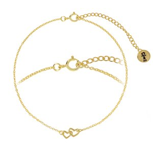 Bracelet Silver 925 Gold-plated Heart Love