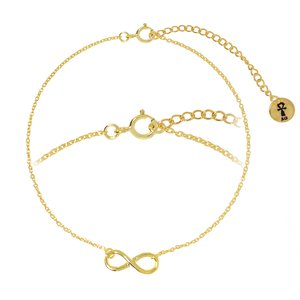 Bracelet Silver 925 Gold-plated Eternal Loop Eternity