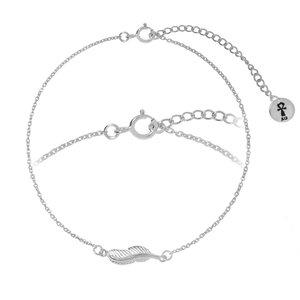 Silber-Armkettchen Silber 925 Feder