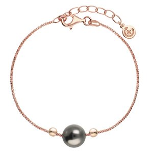EraOra Bracelet Silver 925 Synthetic Pearls PVD-coating (gold color)