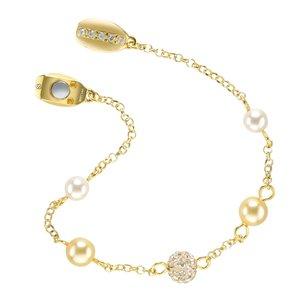 Silber-Armkettchen Silber 925 Swarovski Kristall Gold-Beschichtung (vergoldet)