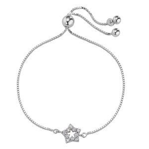 Silber-Armkettchen Silber 925 Zirkonia Stern