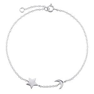 Silber-Armkettchen Silber 925 Stern Mond Halbmond