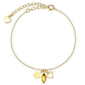 Bracelet Silver 925 PVD-coating (gold color) Swarovski crystal