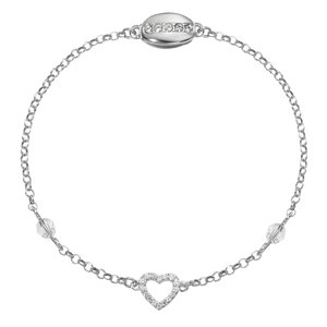 armbandje Zilver 925 Swarovski kristal hart liefde
