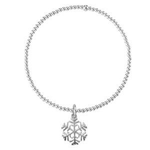 Silber-Armkettchen Silber 925 Schneeflocke