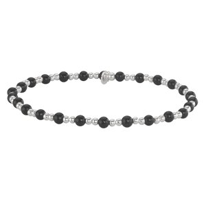 armbandje Zilver 925 Zwarte onyx