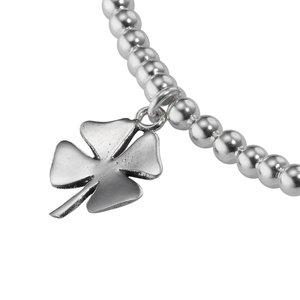 Silber-Armkettchen Silber 925 Süsswasserperle Blatt Pflanzenmuster Florales_Muster
