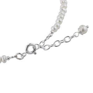 Silber-Armkettchen Silber 925 Süsswasserperle Herz Liebe