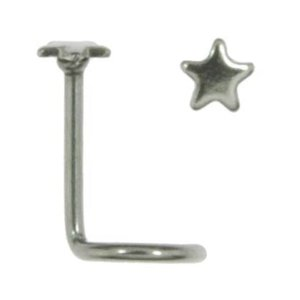 Nose piercing Surgical Steel 316L Star