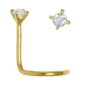Nasenpiercing Gold 18K Kristall