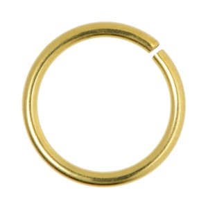 Nose ring Surgical Steel 316L Gold-plated