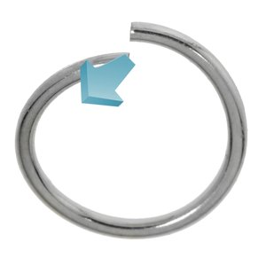 Nose ring Surgical Steel 316L