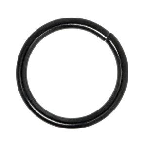 Neusring Chirurgisch staal 316L PVD laag (zwart)