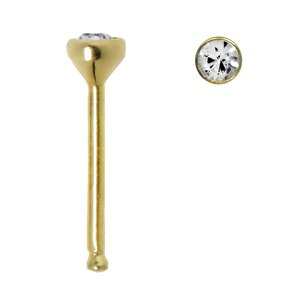 Nose piercing 18K Gold Crystal