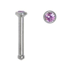 Piercing per naso Metallo chirurgico 316L Cristallo