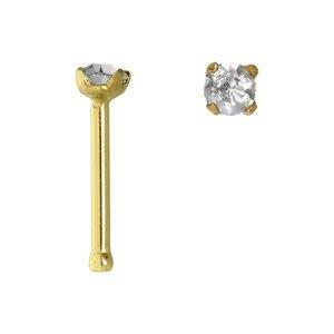 Nasenpiercing Chirurgenstahl 316L Gold-Beschichtung (vergoldet) Kristall