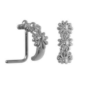 Nose piercing Surgical Steel 316L Flower