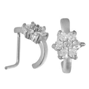 Nose piercing Surgical Steel 316L Crystal Flower