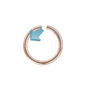 Aro para nariz Acero quirúrgico Revestimiento PVD (color oro)