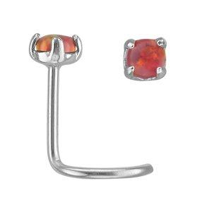 Piercing nez Acier chirurgical 316L Opale synthétique