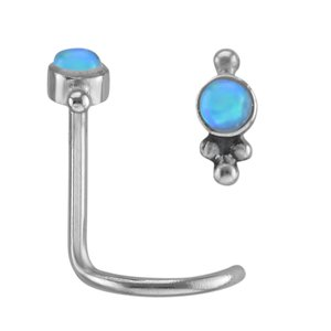 Piercing per naso Metallo chirurgico 316L Synthetic opal
