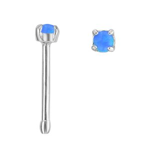 Nose piercing Surgical Steel 316L Synthetic opal