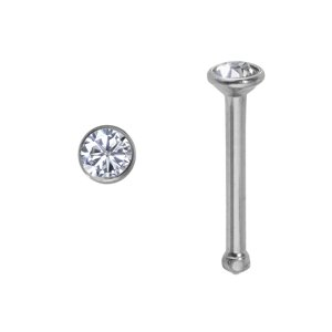 Nose piercing Surgical Steel 316L Swarovski crystal