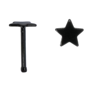 neuspiercing Chirurgisch staal 316L PVD laag (zwart) ster