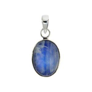 Pendente di pietra Argento 925 Pietra di luna blu