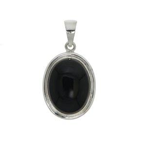 Pendente di pietra Argento 925 Onice nero