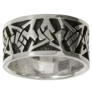 Ring Silver 925 Tribal_pattern Triangle Star
