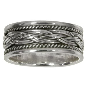 Ring Silver 925 Tribal_pattern Eternal Loop Eternity