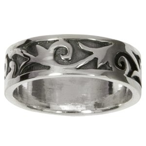 Ring Silver 925 Leaf Plant_pattern Tribal_pattern