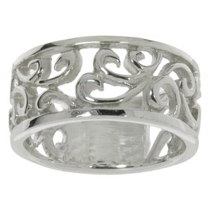 Fingerring Silver 925 Leaf Plant_pattern Tribal_pattern