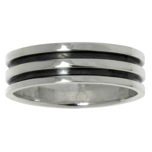 Ring Silver 925 Stripes Grooves Rills