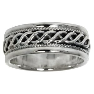 Ring Silver 925 Tribal_pattern Wave