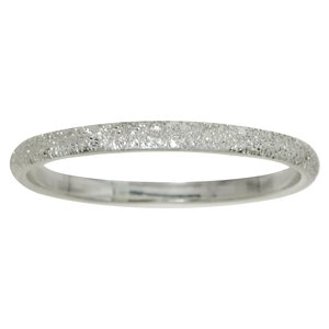 Ring Silver 925 Diamond dust Ruthenium plating