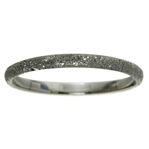 Ring Silver 925 Diamond dust Black Ruthenium plating