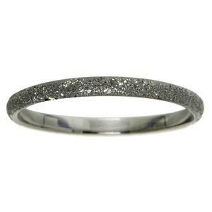 Anello Argento 925 Polvere di diamante Rivestimento di rutenio nero